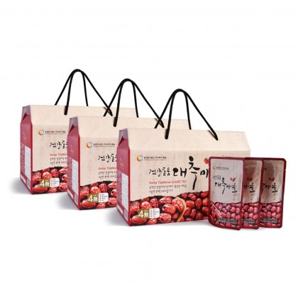 100% Pure Premium Dodum Korean Red Dates Juice/ Jujube Juice/ Jujube Tea Set 100ml x 30packs x 3