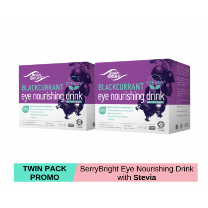 Berry Bright Eye Nourishing Drink Stevia 8g x 30s x 2 [TWIN PACK] (60 Days Supply)