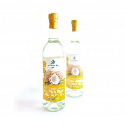 [50% OFF Clearance Exp Date:Oct 2021] Wholesome Living Organic Extra Virgin Coconut Oil 750ml x 2