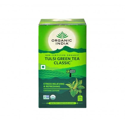 Organic India Certified Organic Tulsi Green Tea Classic 1.9g x 25 Packs