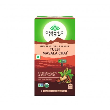 Organic India Certified Organic Tulsi Masala Chai Tea 2.1g x 25 Packs