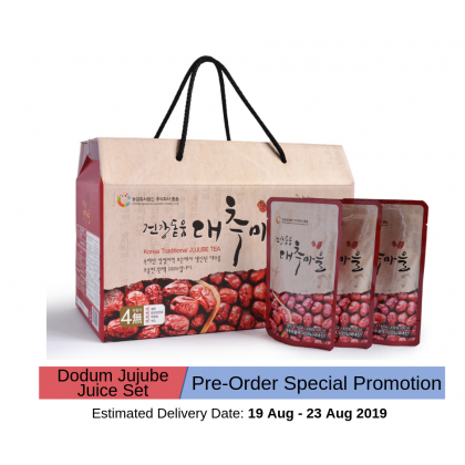 100% Pure Premium Dodum Korean Red Dates Juice/ Jujube Juice/ Jujube Tea Set 100ml x 30packs (Pre Order)