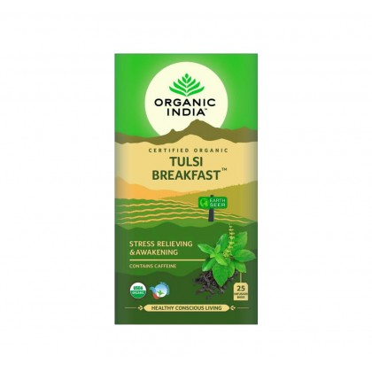 Organic India Certified Organic Tulsi Breakfast 1.7g x 25 Packs x 2