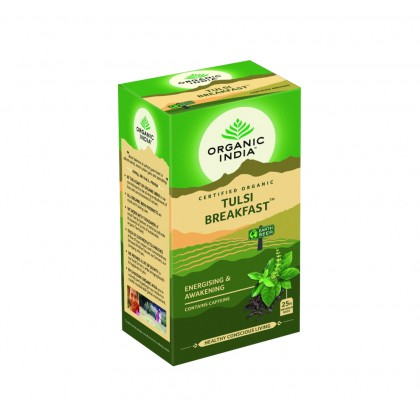 【FREE GIFT 】Organic India Certified Organic Tulsi Breakfast 25 Packs x 2 (Free Eco-Friendly Jute Bag)