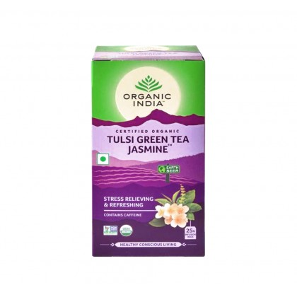 【FREE GIFT】Organic India Certified Organic Tulsi Jasmine Green Tea 25Packs x 2 (Free Eco-friendly Jute Bag)