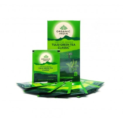 Organic India Certified Organic Tulsi Green Tea Classic 1.9g x 25 Packs x 2