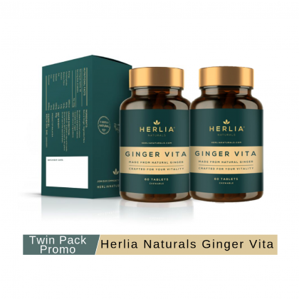 Herlia Vita Ginger 60 tablets x 30g x 2 (Twin Pack Promo)