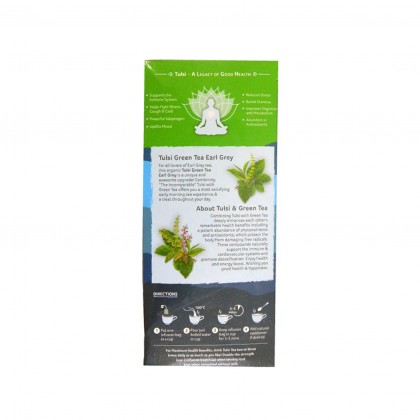 Organic India Certified Organic Tulsi Green Tea Earl Grey 1.8g x 25 Packs