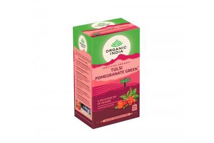 [FREE GIFT] [TWIN PACK] Organic India Certified Organic Tulsi Pomegranate x 25 Packs x 2 boxes (with FREE Eco Jute Bag)