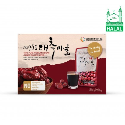 Dodum Korean Red Dates Juice/ Jujube Juice/ Jujube Tea 100ml x 5 packs x 3 boxes (No Added Sugar. Highly Concentrated)