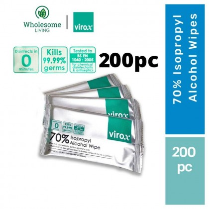 【Twin Value Pack】Virox 70% Alcohol Wipes 100pcs x 2