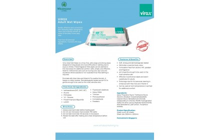 Virox Anti Bacteria Wet Wipes 40s x 3 (Non-Alcohol)