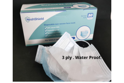 NeshShield 3-ply Surgical Face Mask with Ear Loop x 50pcs