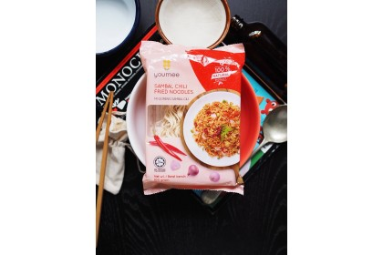 YOUMEE Sambal Fried Chili Noodle (8 pkt x100g) - All Natural Instant Noodle (HALAL)