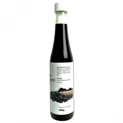 Wholesome Living Organic Black Bean Soy Sauce (Light) - [Traditional, Sun-dried, No MSG]
