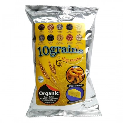 Organic Multi Grain Cheese Ring 50g x 3 [Tasty & Healthy Snack] [No MSG]