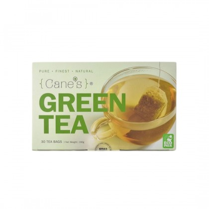 Purple Cane's Green Tea (30 tea bags) x 1 [Pure. Finest. Natural]