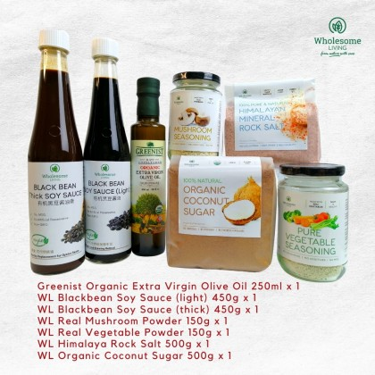 [CNY Special] Healthy Kitchen Essentials Gift Box (7 Groceries Items - Natural, Vegetarian)