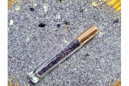 Vibrational Healing Rollers - Confidence (Amethyst stone with lavender & frankincense essential oils)