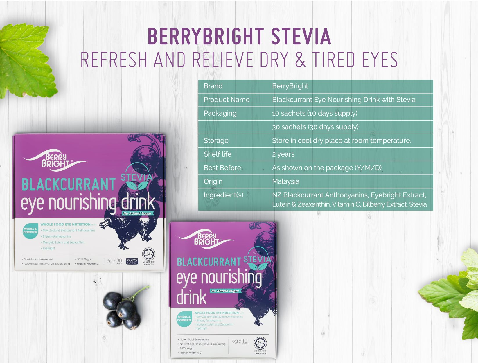 Berry Bright Stevia Product Specification