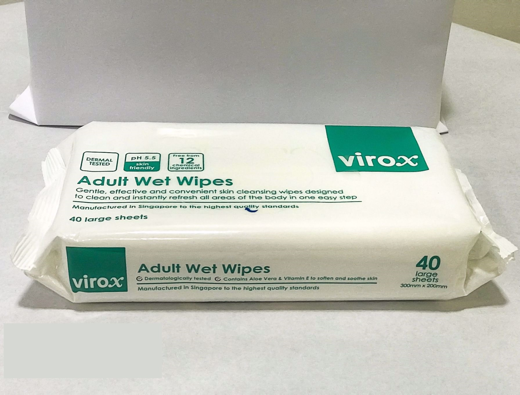Virox Anti Bacteria Wet Wipes 40s (Non-Alcohol)