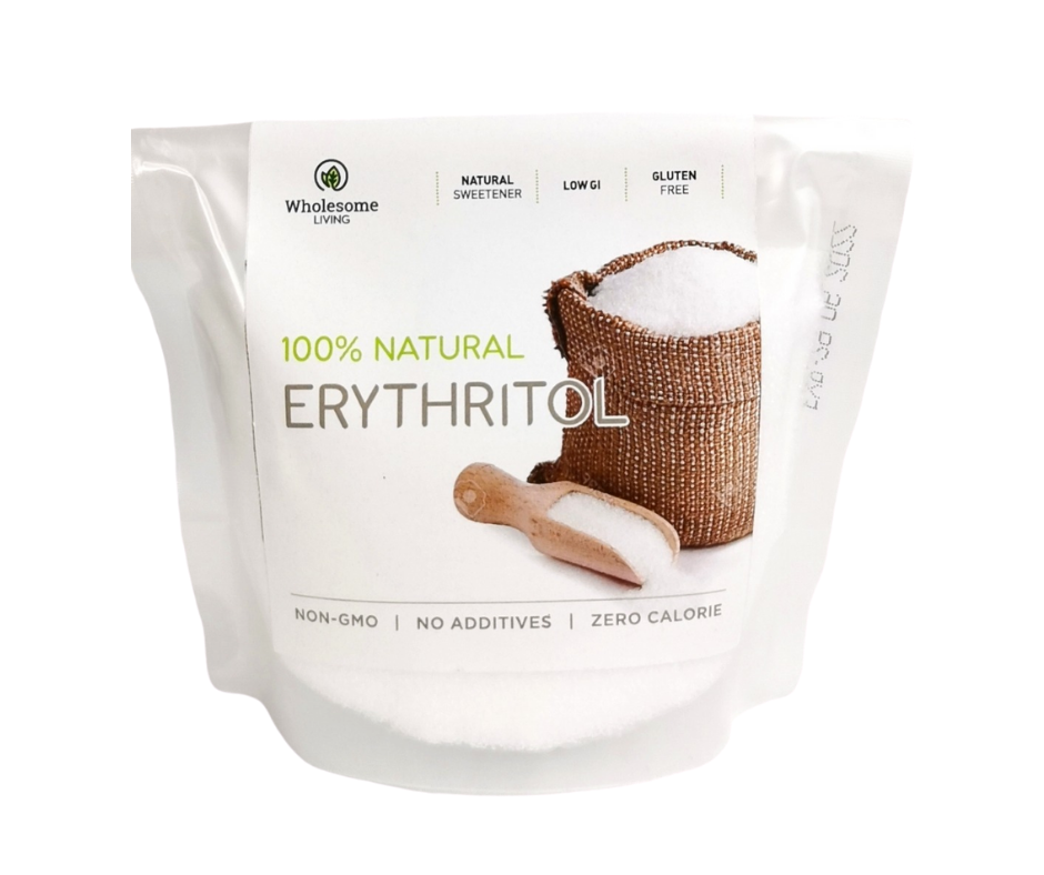 Wholesome Living Keto Friendly Non-GMO Erythritol Natural Sweeteners 250g (zero calories)